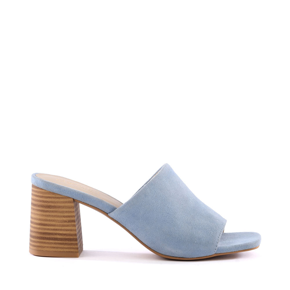 Product image of light blue suede side