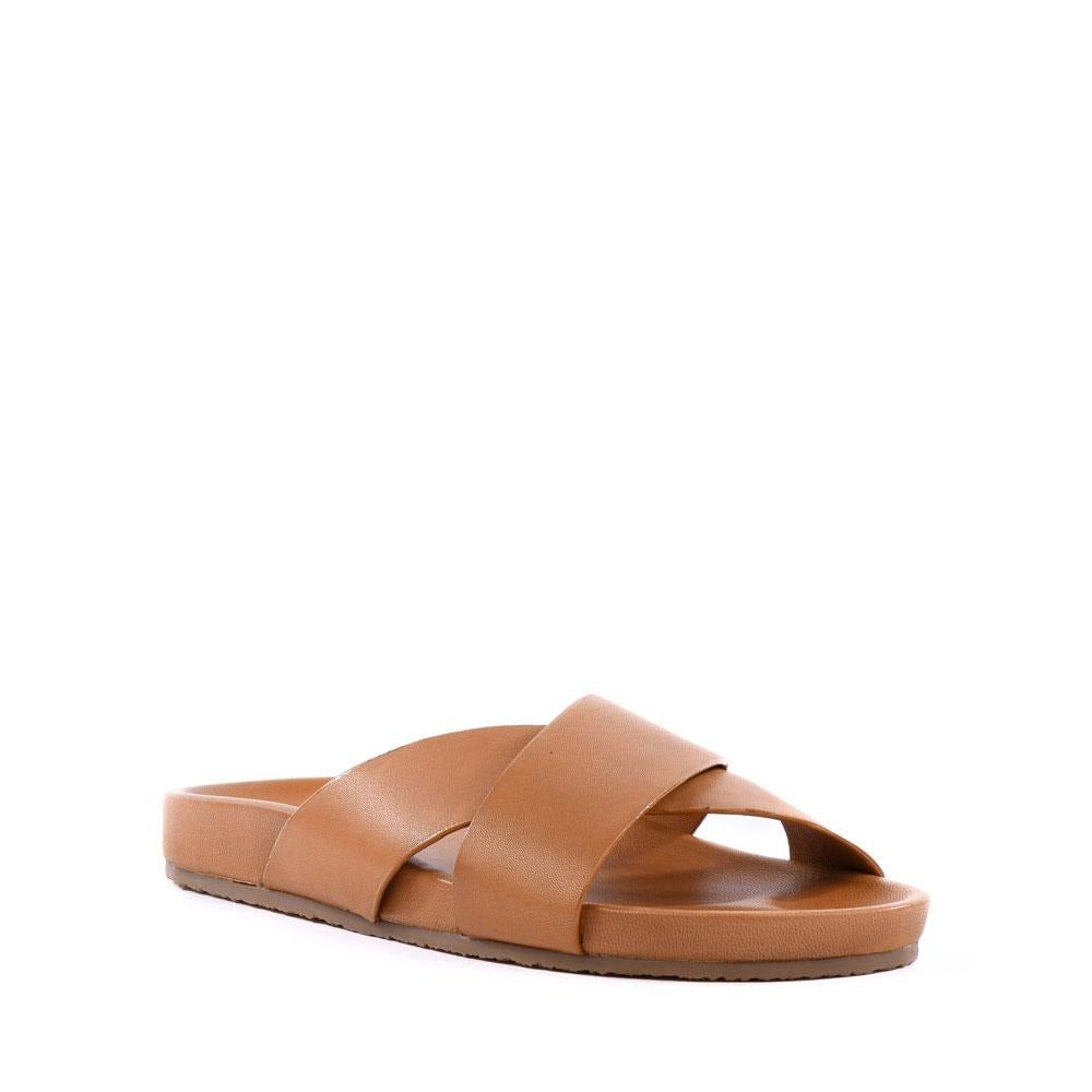 Product image of tan leather front