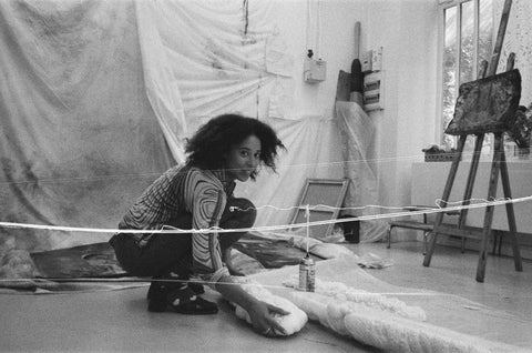 Inès di Folco at her studio in Menilmontent, photographed by Gemma in October 2020.