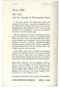Henry Miller Big Sur and The Oranges of Hieronymus Bosch