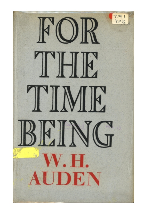 For the Time Being W. H. Auden