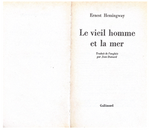 Load image into Gallery viewer, Ernest Hemingway Le Vieil Homme et la Mer