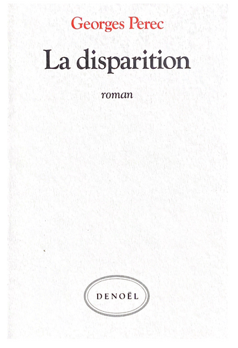 Georges Perec La Disparition