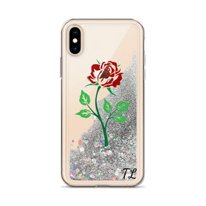 the tl rose Liquid Glitter Phone Case