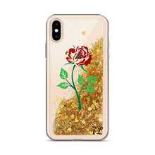 Load image into Gallery viewer, the tl rose Liquid Glitter Phone Case