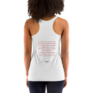 i'm normal Women's Racerback Tank