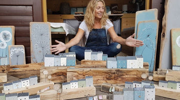 Reclaimed Wood Art in Dorset by Emma Jane