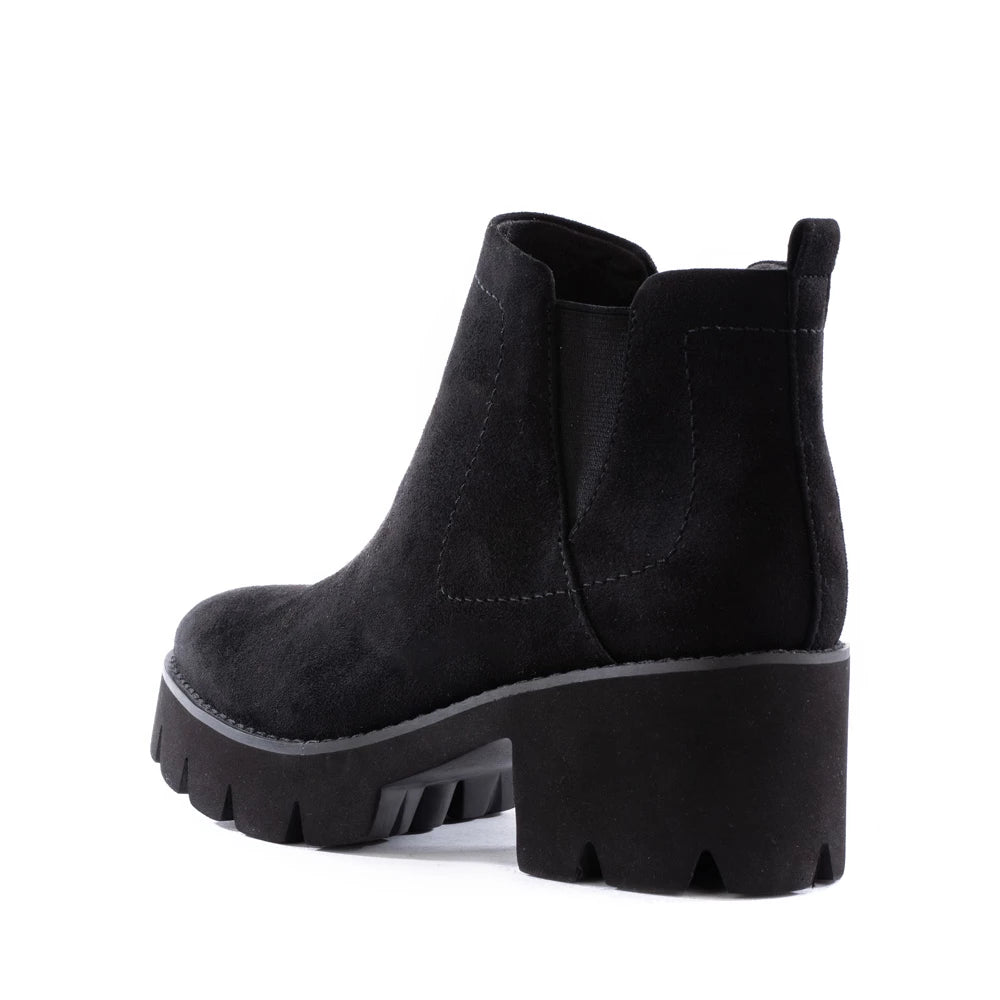 Product image of black vegan suede back