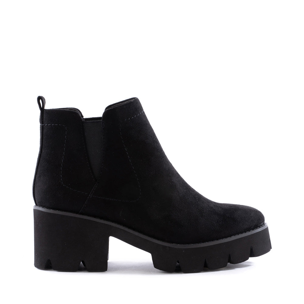 Product image of black vegan suede side