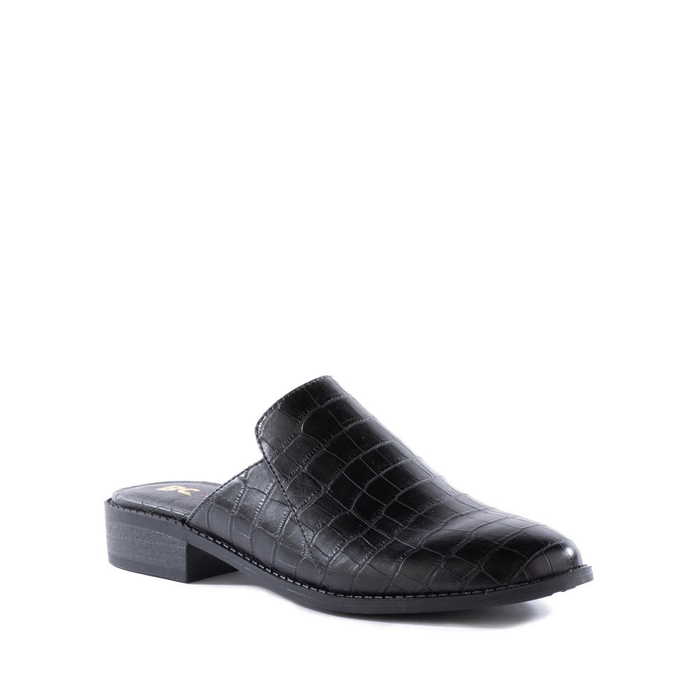 Product image of black vegan croco front