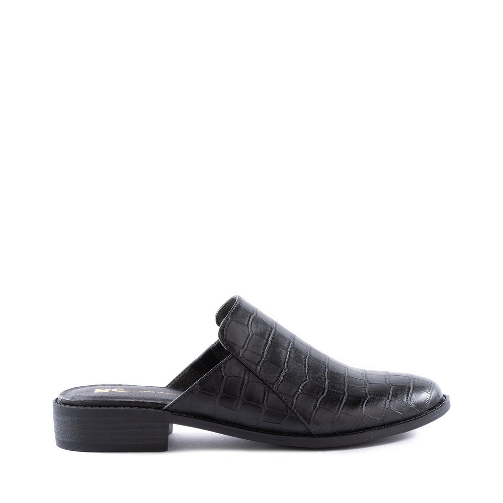 Product image of black vegan croco side