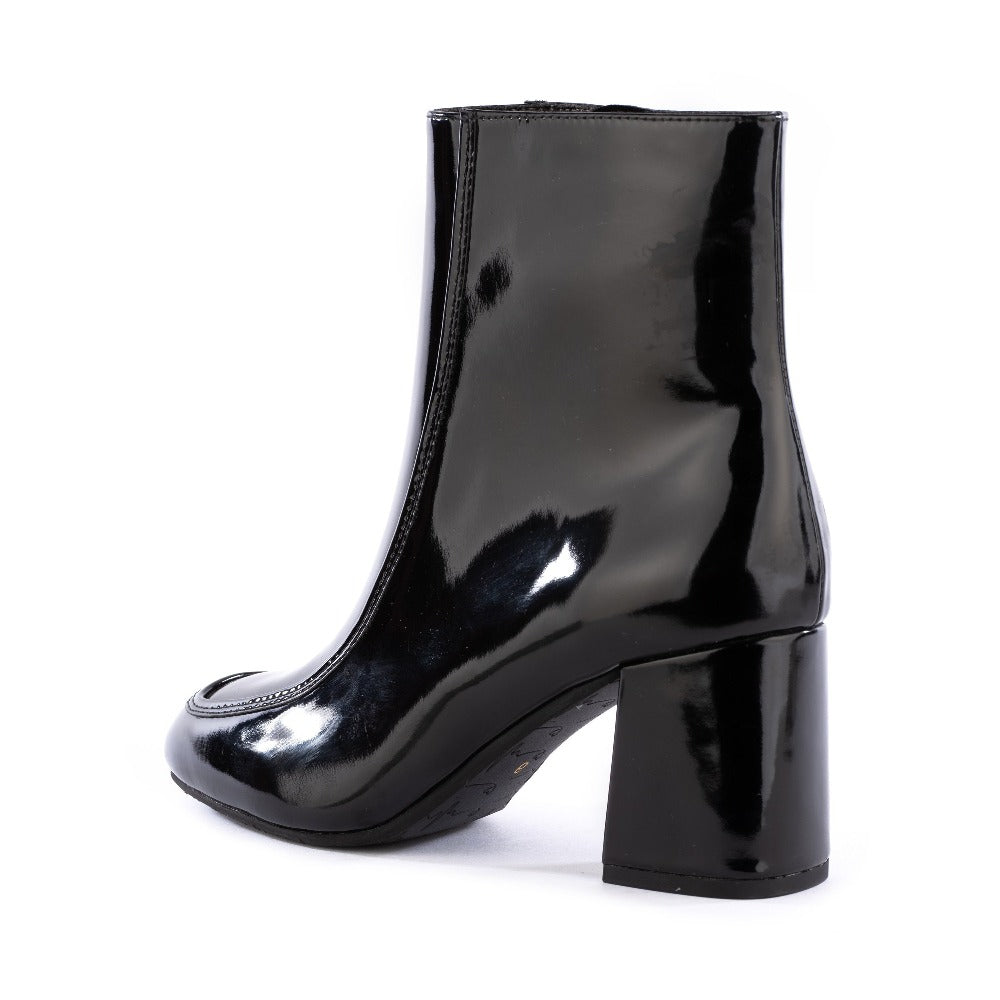 Product image of black vegan patent leather back