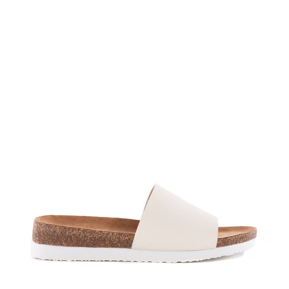 Product image of white vegan leather side