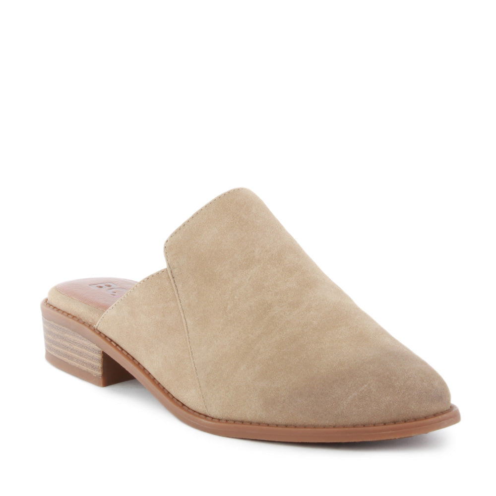 Product image of taupe vegan nubuck front