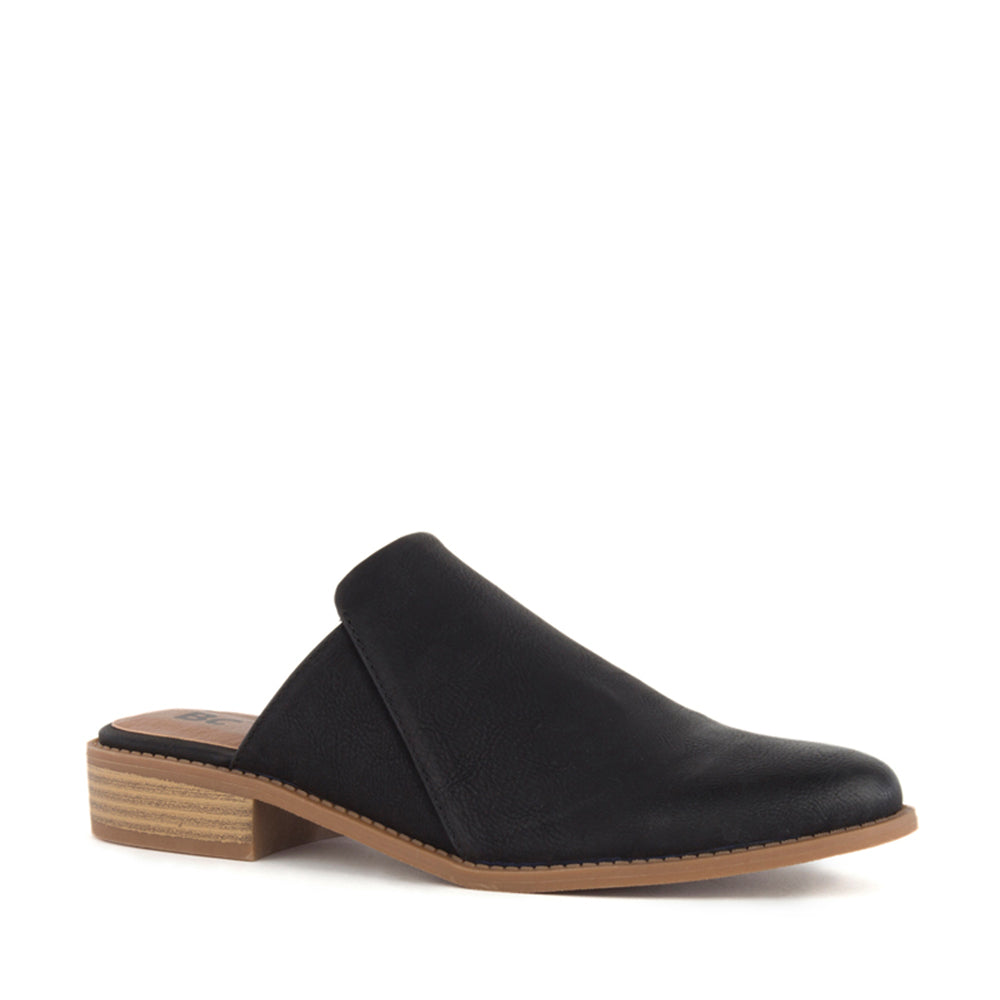 Product image of black vegan nubuck front