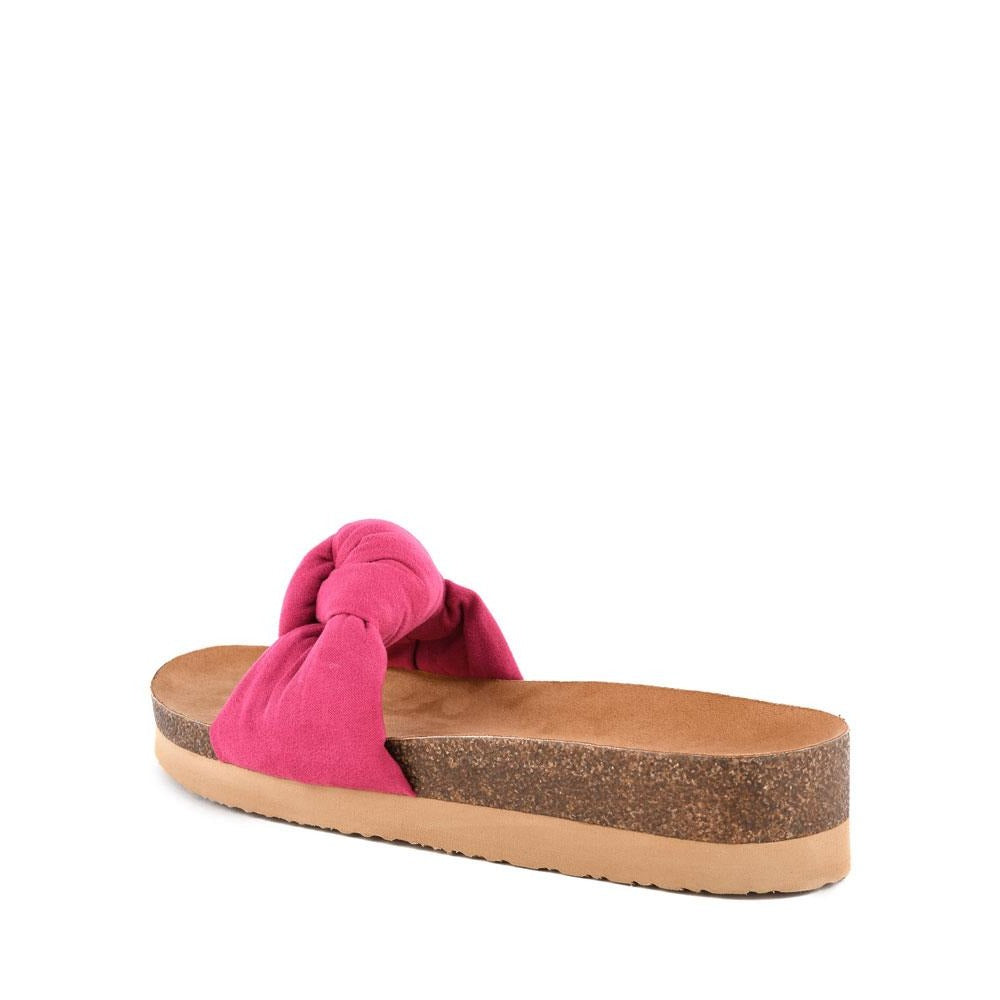 Product image of fuchsia vegan suede back