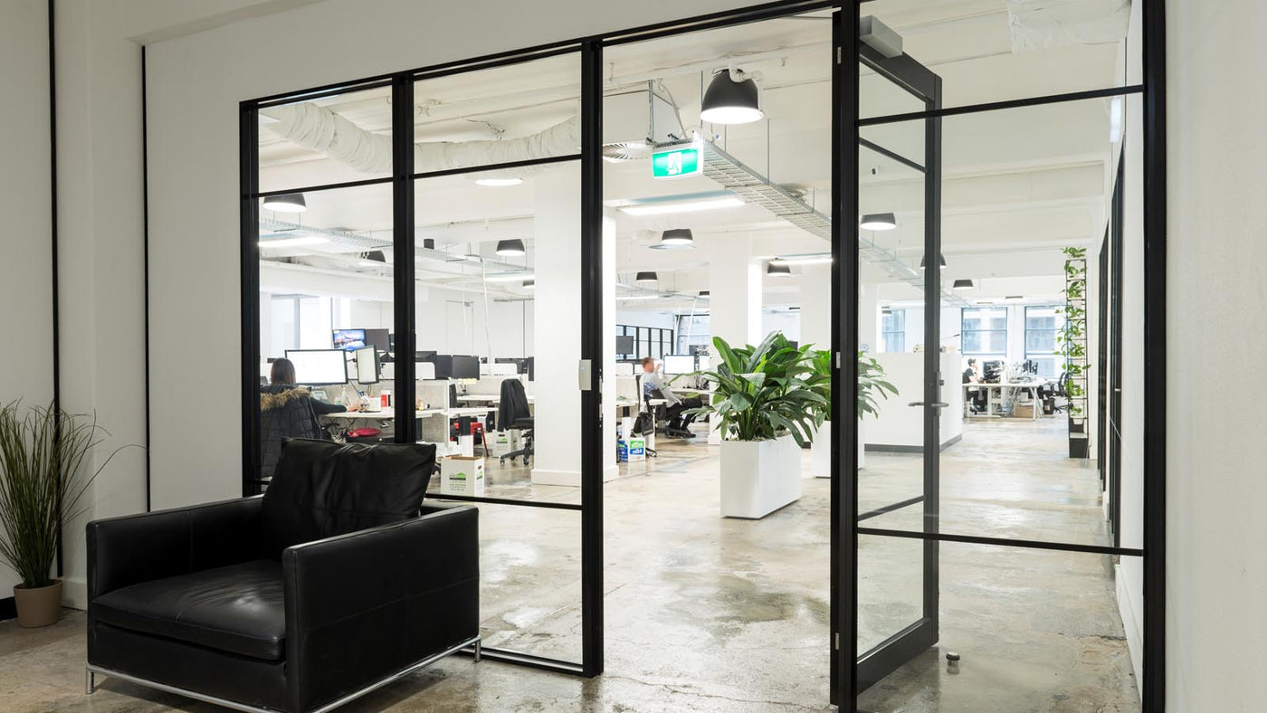 buy online 74dcd 39f22 Sliding Doors vs. Hinged Doors in the Office Environment ...
