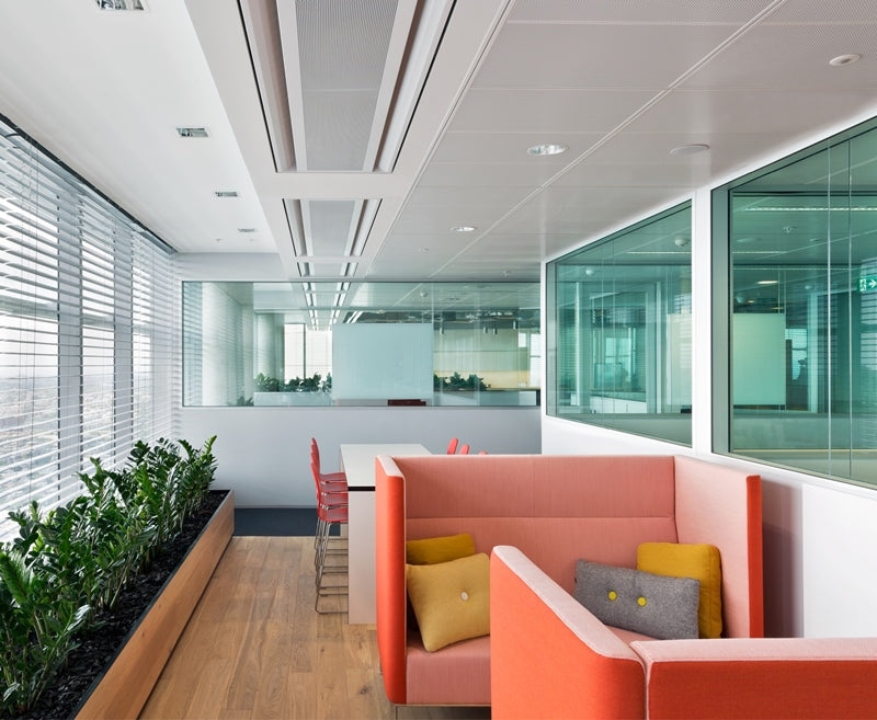 Hot desking can involve all types of seating, from shared desks to couches