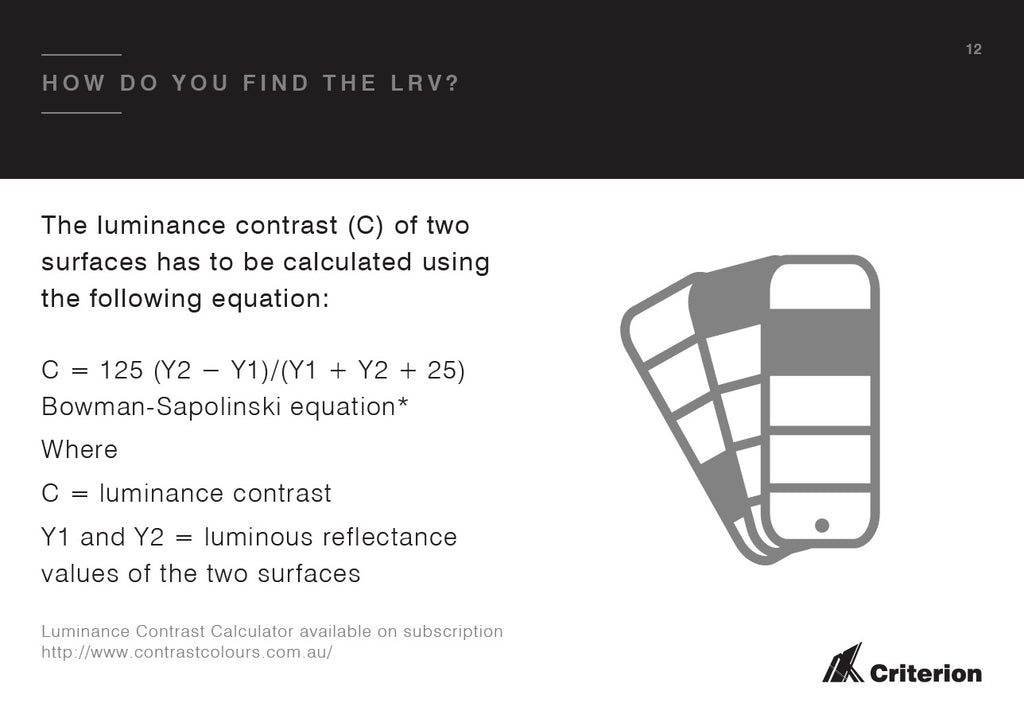 How do you find the Luminance Reflectance Value?