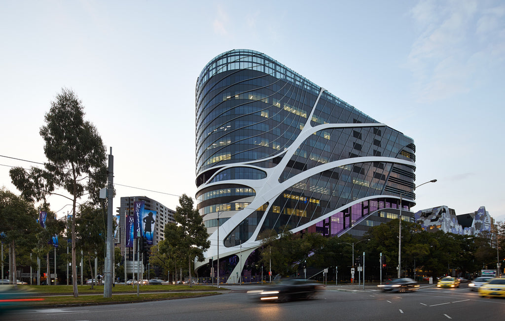 The impressive Victorian Comprehensive Cancer Centre, winner of the Victorian Medal at the 2017 Victorian Architecture Awards.
