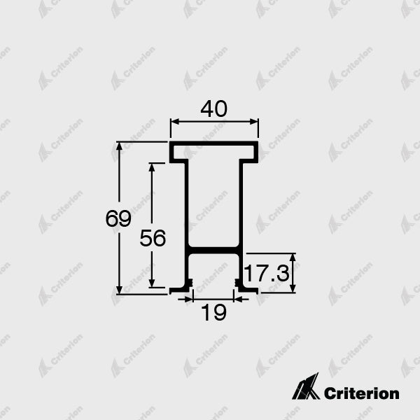 CI-0528 Door Stile - Standard - Criterion Industries - office fitouts - australia