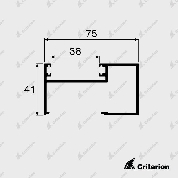 CI-0614 Receiver Channel - Lockable - Standard - Criterion Industries - office fitouts - australia