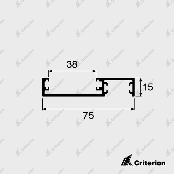 CI-0615 Receiver Channel - Non Lockable - Standard - Criterion Industries - office fitouts - australia