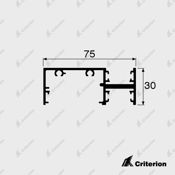 CI-0635 Front Glazing Frame - Standard - Criterion Industries - office fitouts - australia