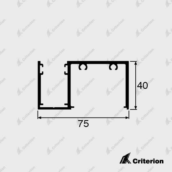 CI-0654 40mm Window Frame - Standard - Criterion Industries - office fitouts - australia