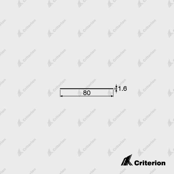 80 x 1.6mm Flat Skirting - Standard - Criterion Industries - office fitouts - australia