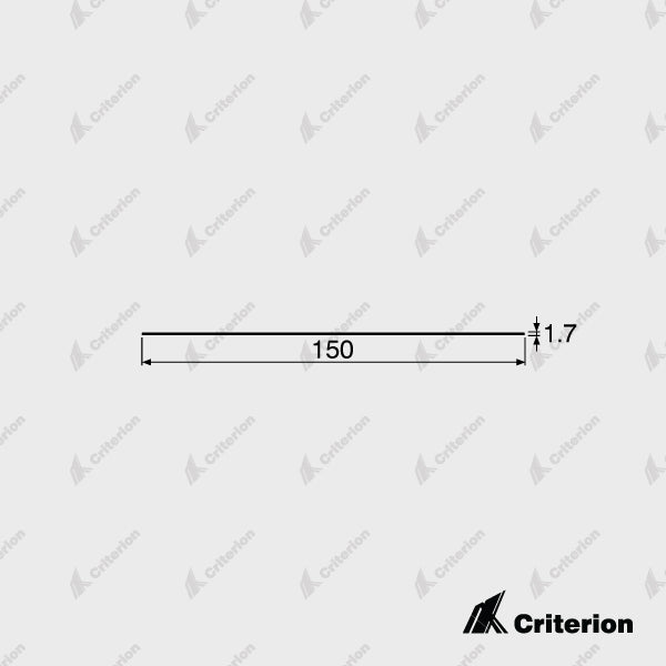150 x 1.7mm Flat Skirting - Standard - Criterion Industries - office fitouts - australia