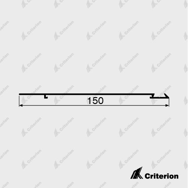 SK150 Bevel Top Screw On Skirting - Standard - Criterion Industries - office fitouts - australia