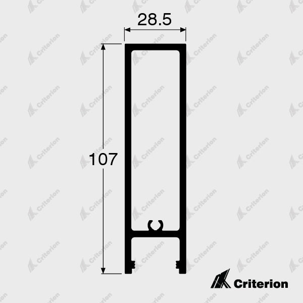 CI-817719 Slimline Lock Box - Standard - Criterion Industries - office fitouts - australia