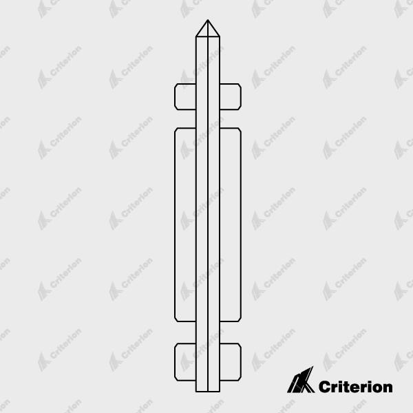 PVC Skirting Stake - Standard - Criterion Industries - office fitouts - australia