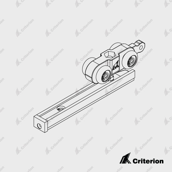 Arctic Low Clearance Roller Pack (Incl. Rollers, Track stops, Spanner and screws) - Standard - Criterion Industries - office fitouts - australia
