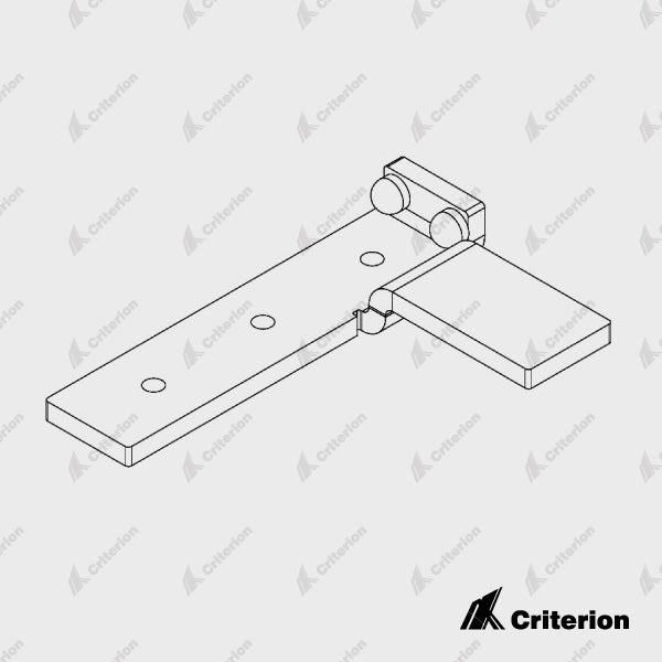 CDS-182 Left Catch Bracket - Satin Black - Standard - Criterion Industries - office fitouts - australia