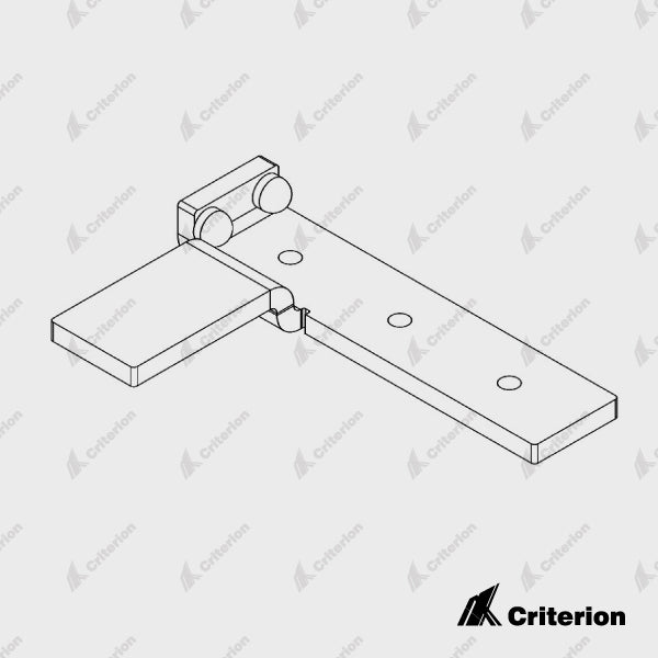 CDS-183 Right Catch Bracket - Satin Black