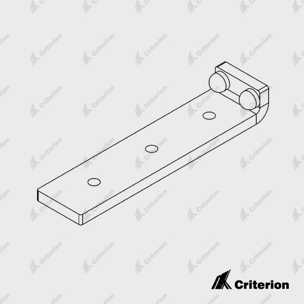 CDS-184 Plain Catch Bracket - Satin Black - Standard - Criterion Industries - office fitouts - australia