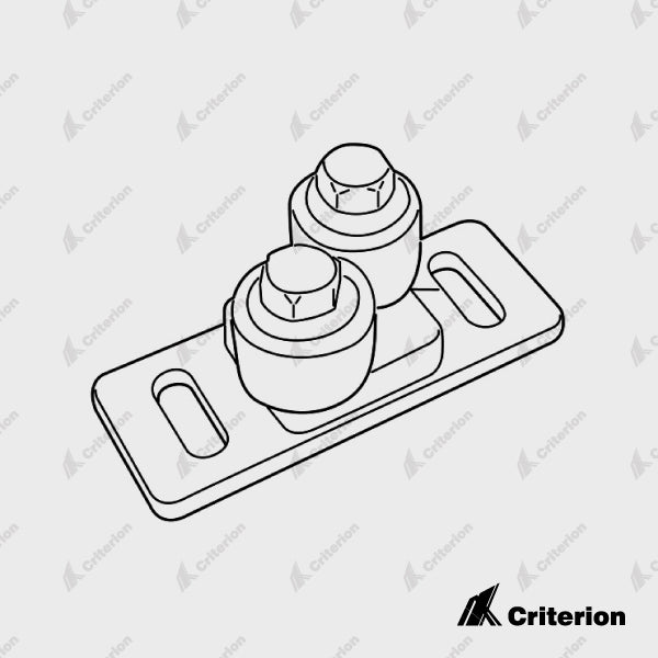 CDS-0464 Door Roller Guide (Floor Mounted) - Standard - Criterion Industries - office fitouts - australia