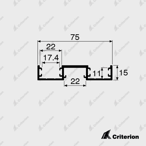 CI-0632 Double Glazing Window Frame - Standard - Criterion Industries - office fitouts - australia