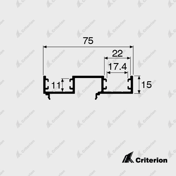 CI-0646 Double Glazing Frame Adaptor - Standard - Criterion Industries - office fitouts - australia