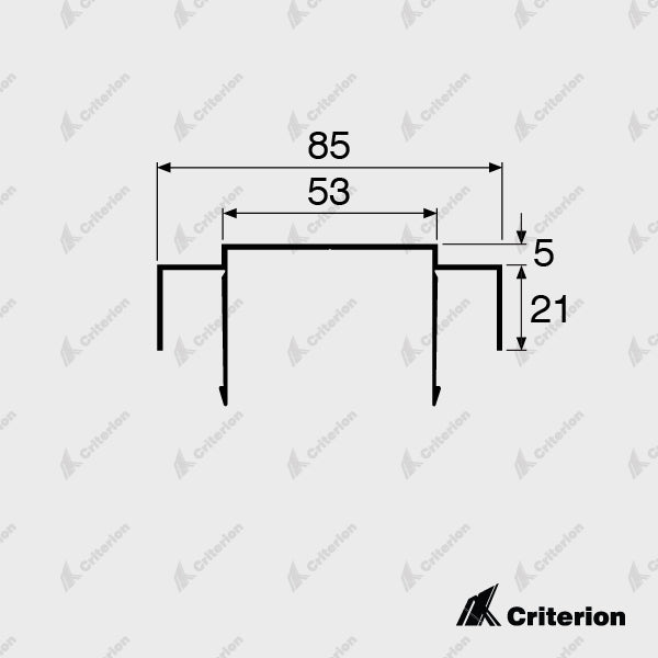 CI-1110 Ceiling Channel 5mm Shadowline - Standard - Criterion Industries - office fitouts - australia