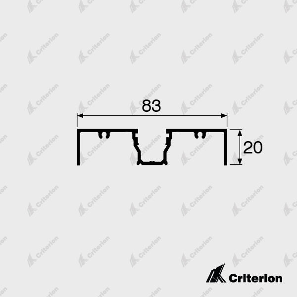 CI-1130 Window Frame - Standard - Criterion Industries - office fitouts - australia