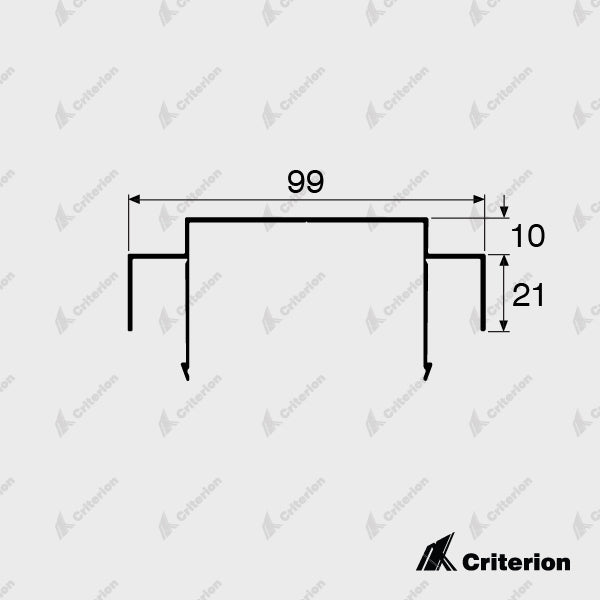CI-2111 Ceiling Channel 10mm Shadowline - Standard - Criterion Industries - office fitouts - australia