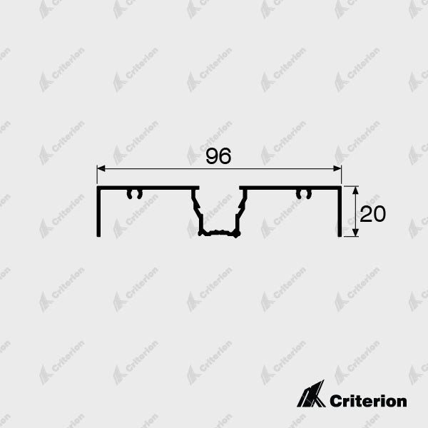 CI-2130 Window Frame - Standard - Criterion Industries - office fitouts - australia