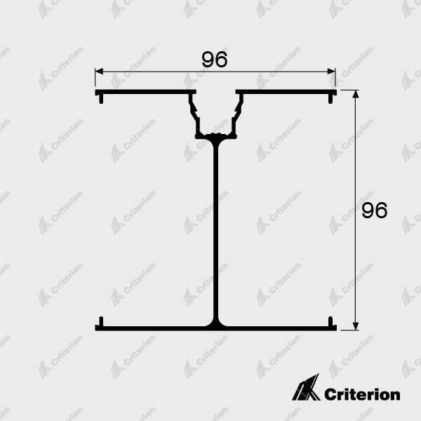 CI-2178 2/3 Way Corner Post - Standard - Criterion Industries - office fitouts - australia