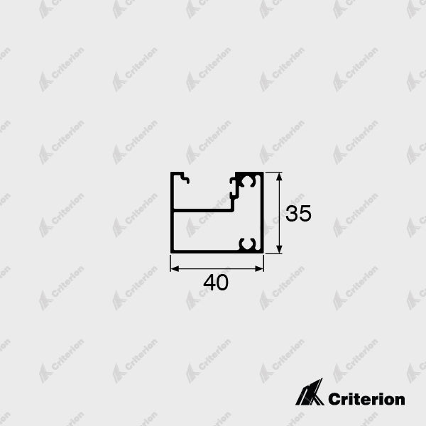 CI-2234 Lena 90 Offset Frame - Standard - Criterion Industries - office fitouts - australia