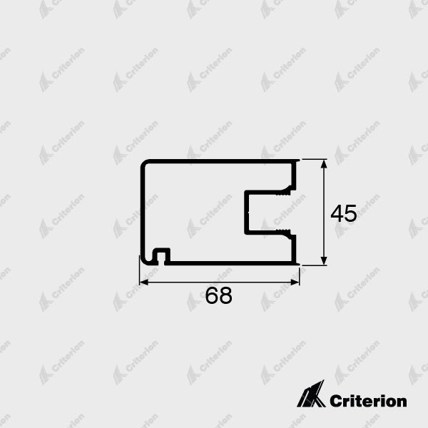 CI-5026 Wiper Stile - Standard - Criterion Industries - office fitouts - australia