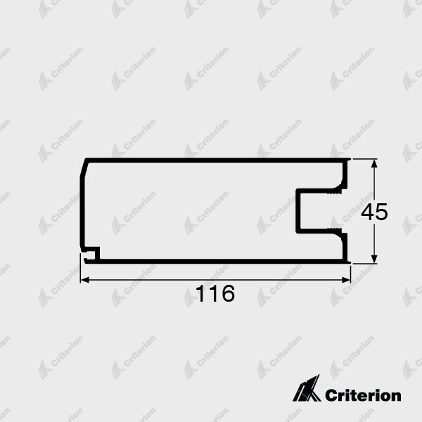CI-5031 Wide Lock Stile - Standard - Criterion Industries - office fitouts - australia