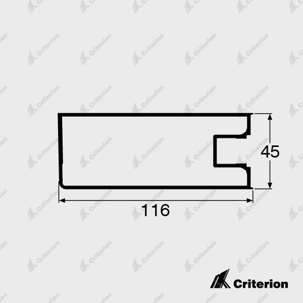 CI-5032 Wide Hinge Stile - Standard - Criterion Industries - office fitouts - australia